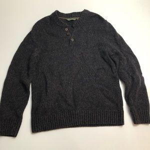 Eddie Bauer Brown Lambswool Sweater Large Men's